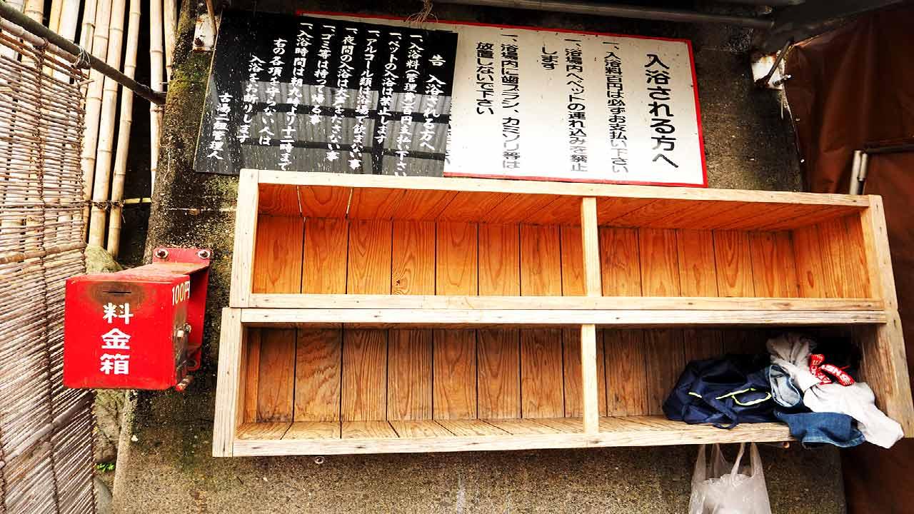 天ケ瀬温泉 薬師湯の脱衣所の画像