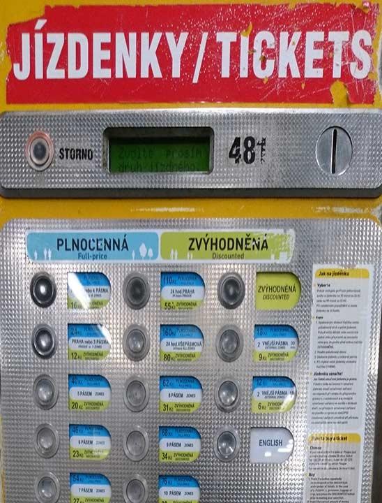 チェコ観光 チェコの地下鉄の値段