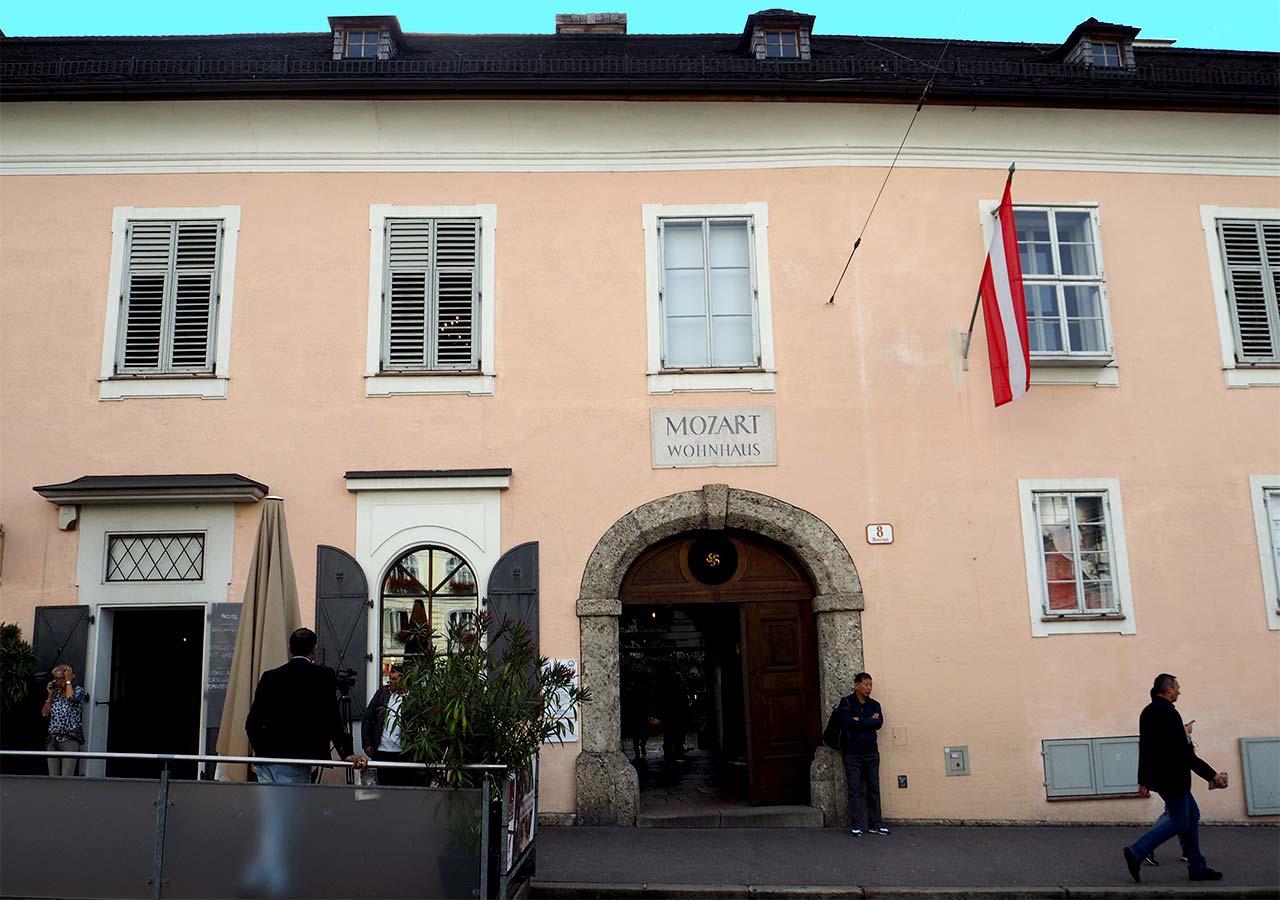ザルツブルク観光 モーツァルトの住居