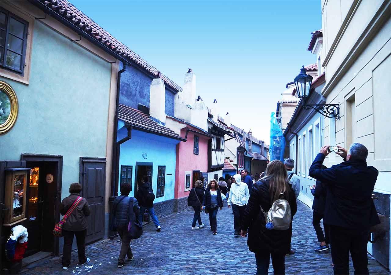プラハ観光 黄金小道