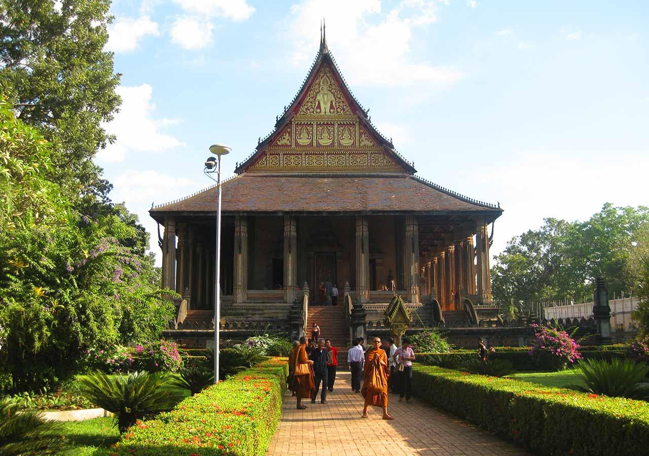 ビエンチャン観光 ワットホーパケオ(Wat Ho Phra Keo)