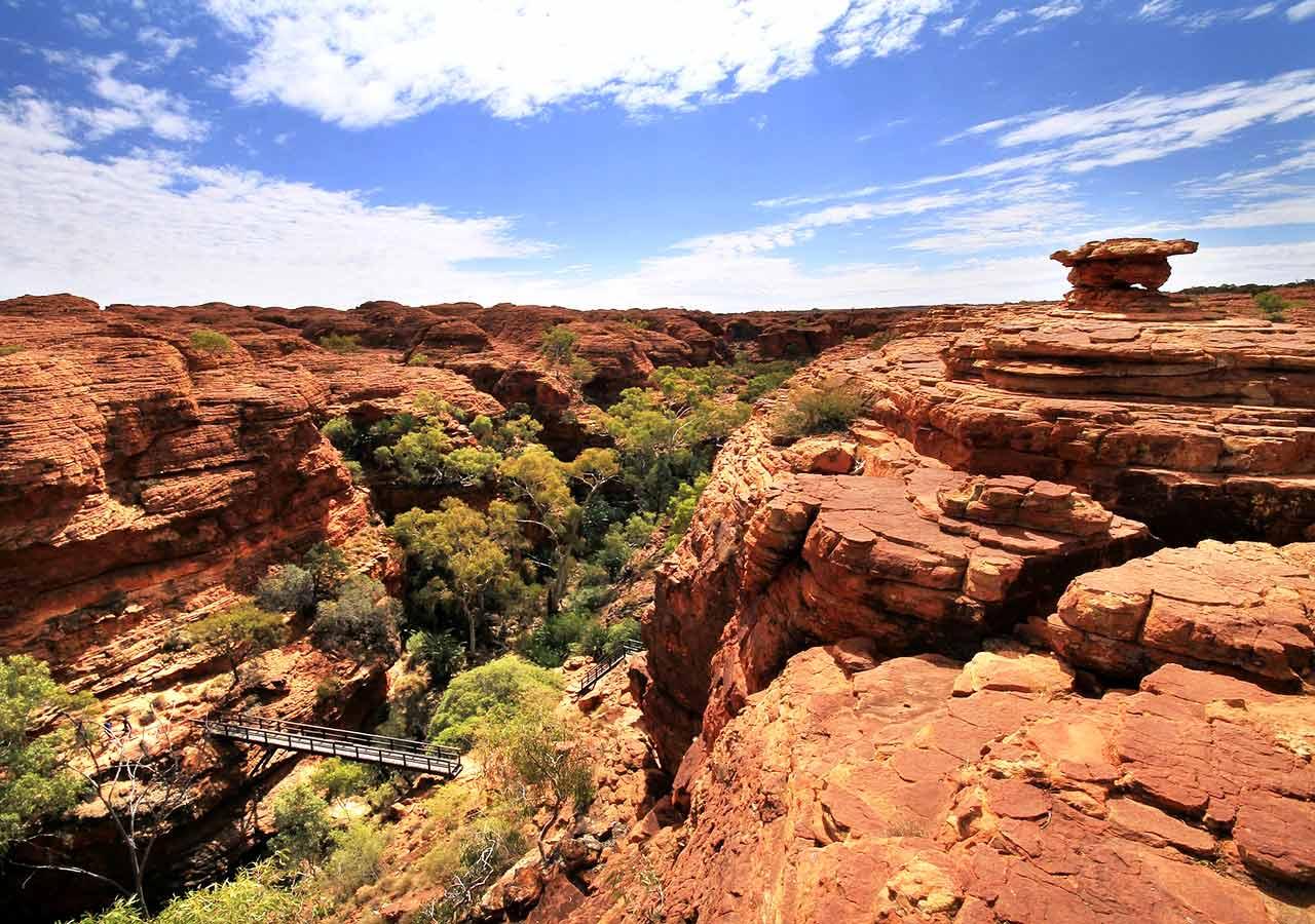 エアーズロック(ウルル)観光 キングスキャニオン(Kings Canyon)