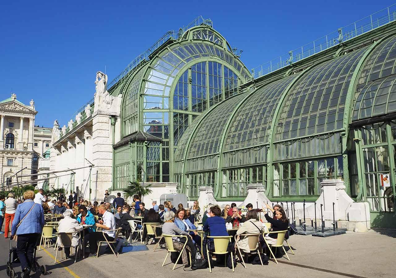 ウィーン観光 新王宮の植物園