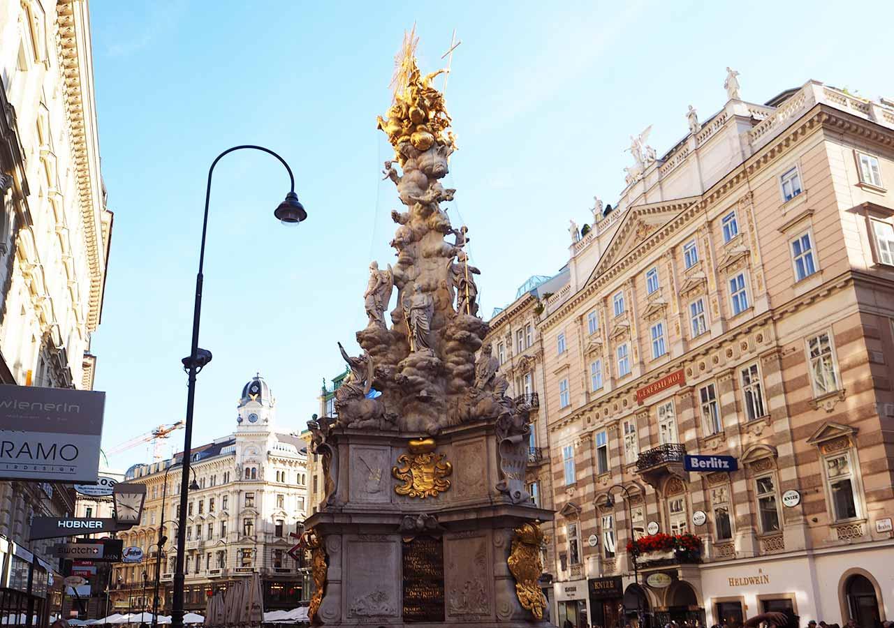 ウィーン観光 ペスト記念塔