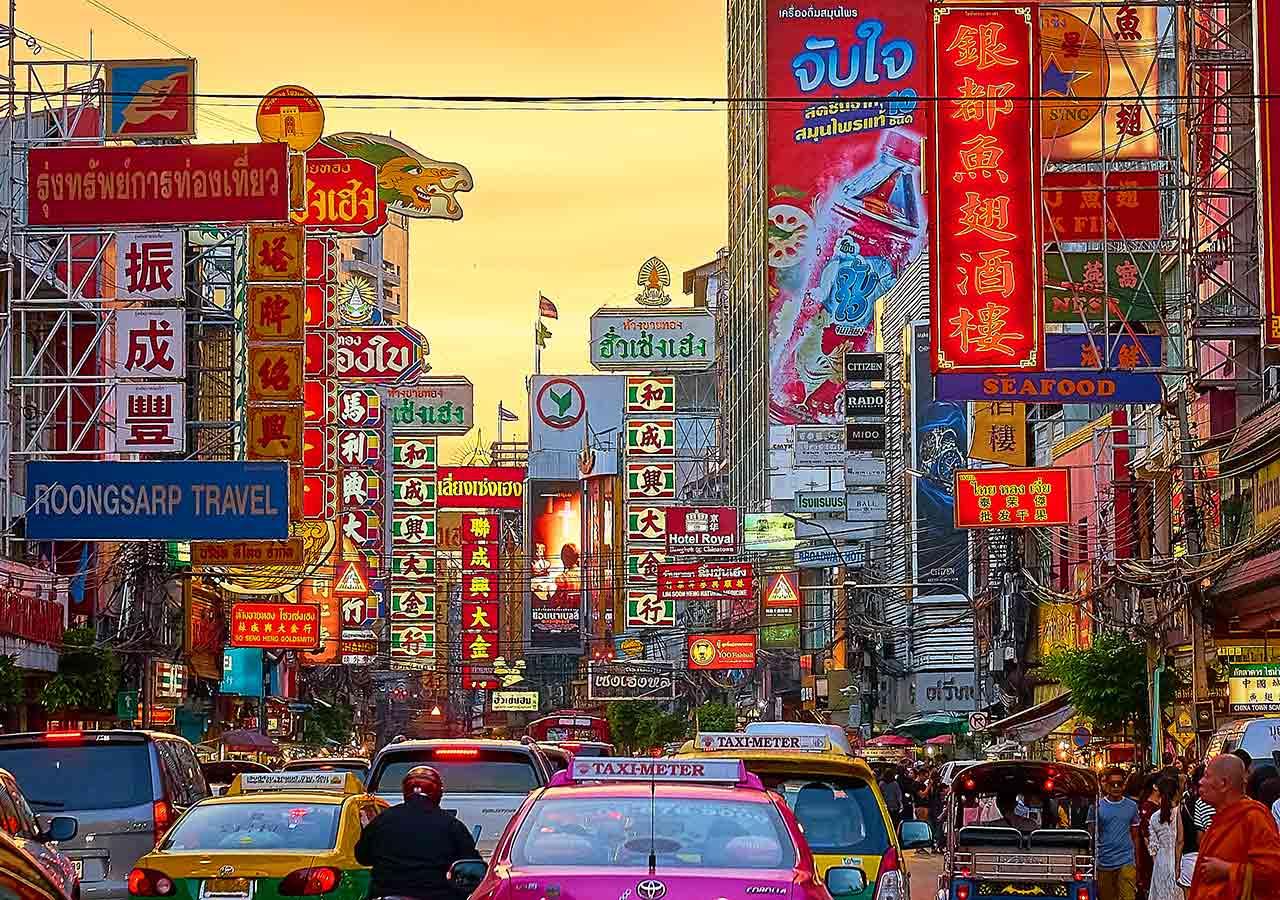 バンコク観光  チャイナタウン(ヤワラート通り、Yaowarat rd)