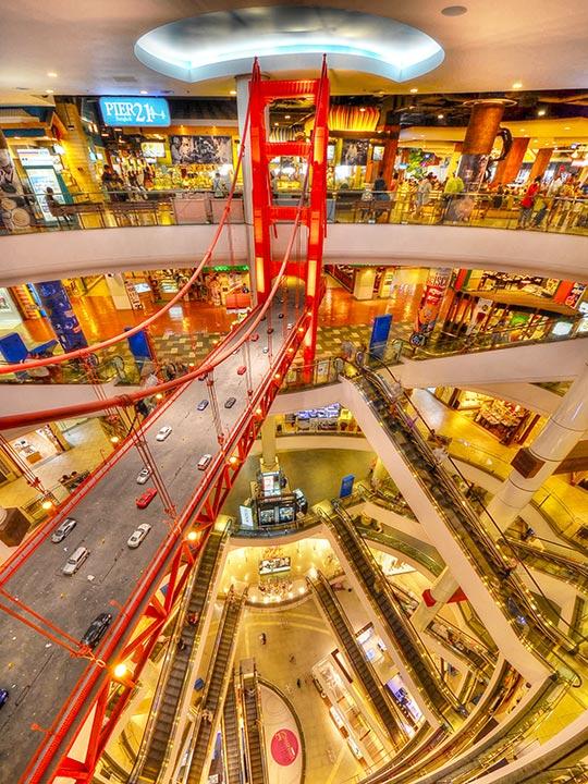 バンコクのターミナル21の内部