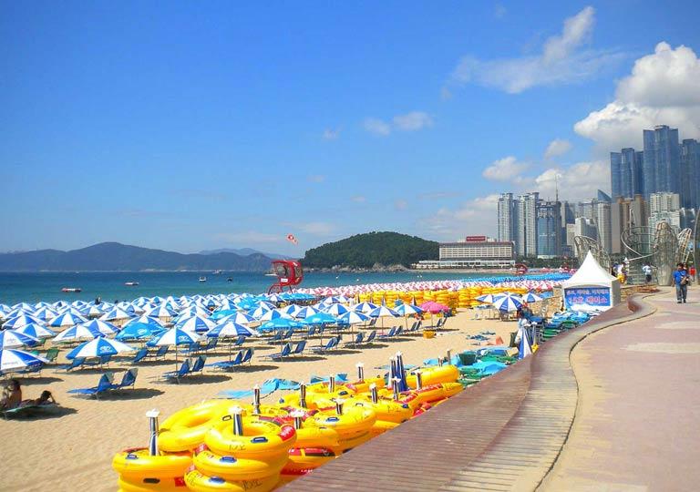 釜山観光 ヘウンデビーチ(海雲台ビーチ、Haeundae Beach )