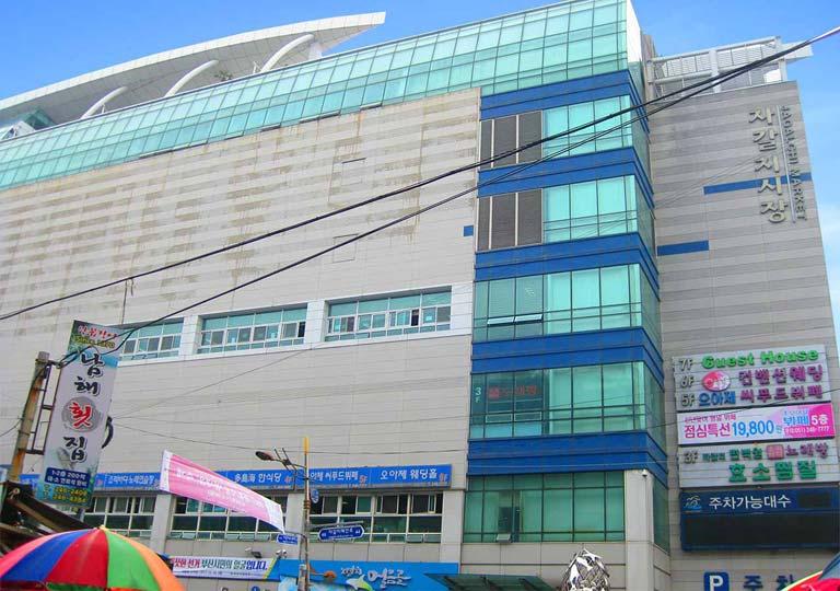 釜山観光 チャガルチ市場(Jagalchi market)の水産物ビル