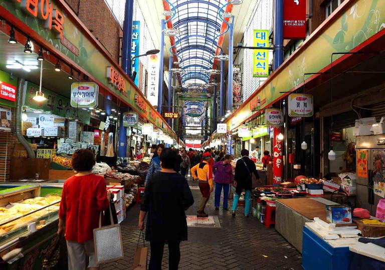 釜山観光 南浦洞国際市場
