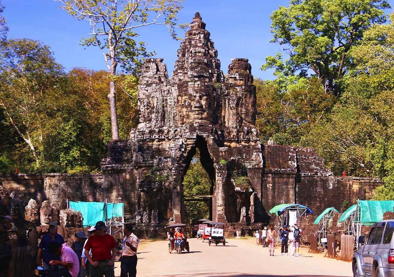 アンコールワット観光 アンコールトム南大門(Angkor Tom South Gate)
