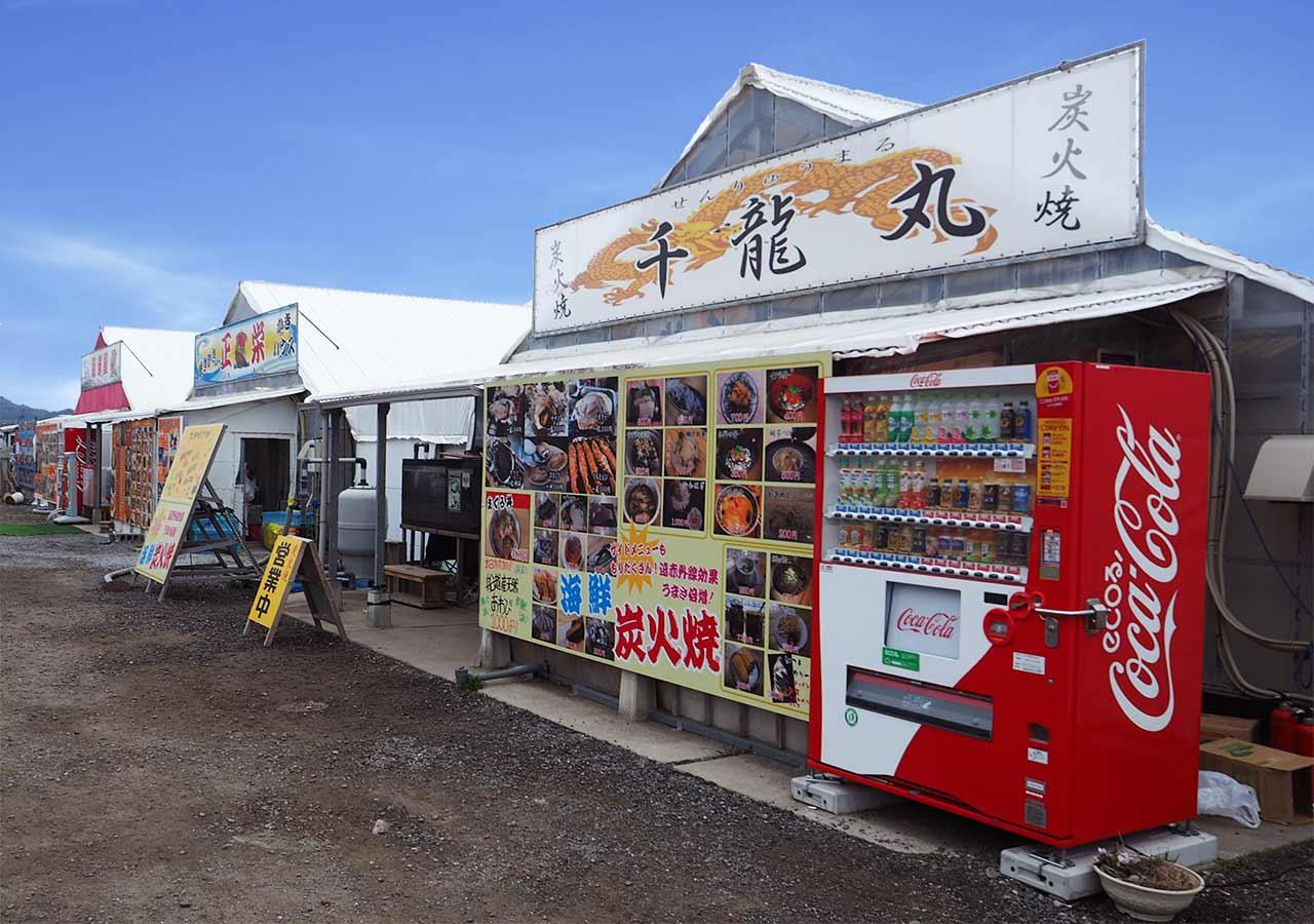 糸島観光 船越漁港の牡蠣(カキ)小屋