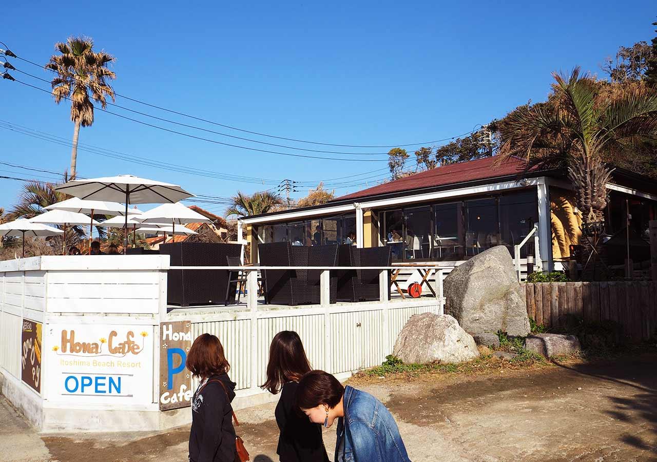 糸島観光 二見ヶ浦のHona Cafe