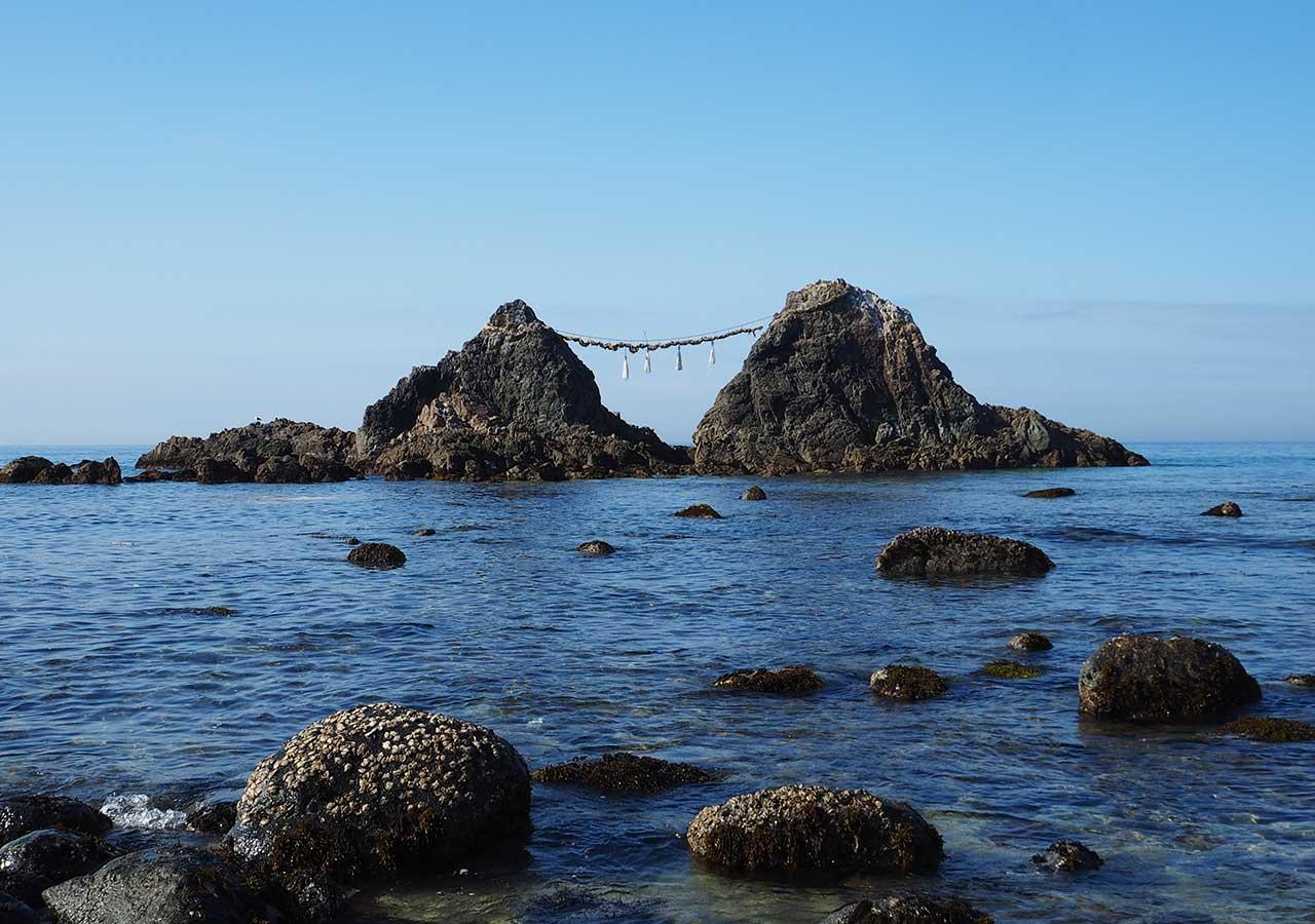 糸島観光 二見ヶ浦の夫婦岩