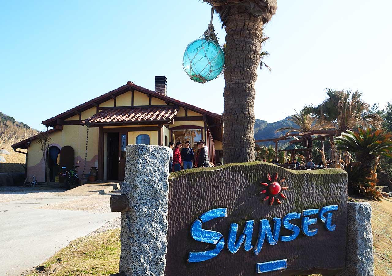 糸島観光 二見ヶ浦 Beach Cafe SUNSETの外観