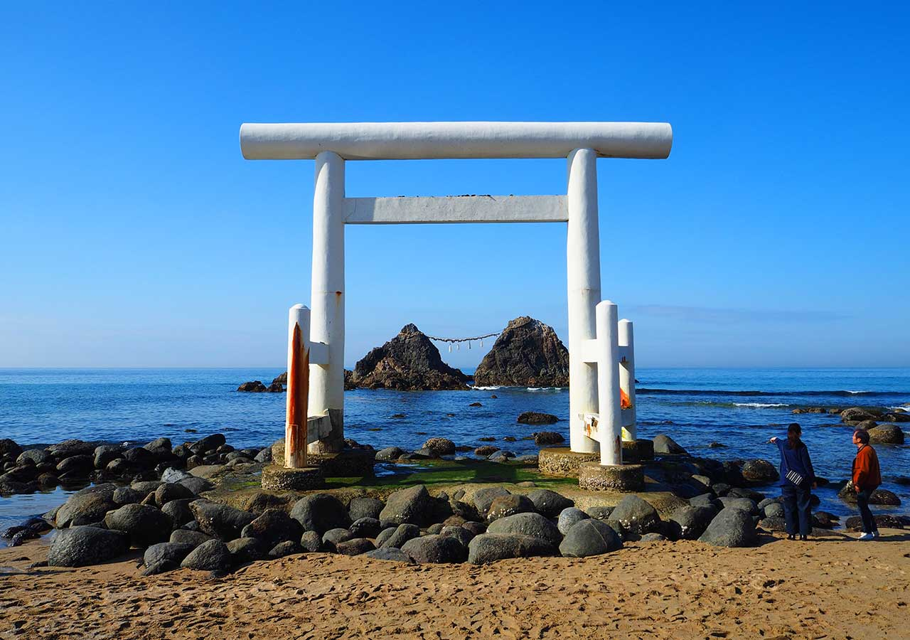 糸島観光 二見ヶ浦 夫婦岩