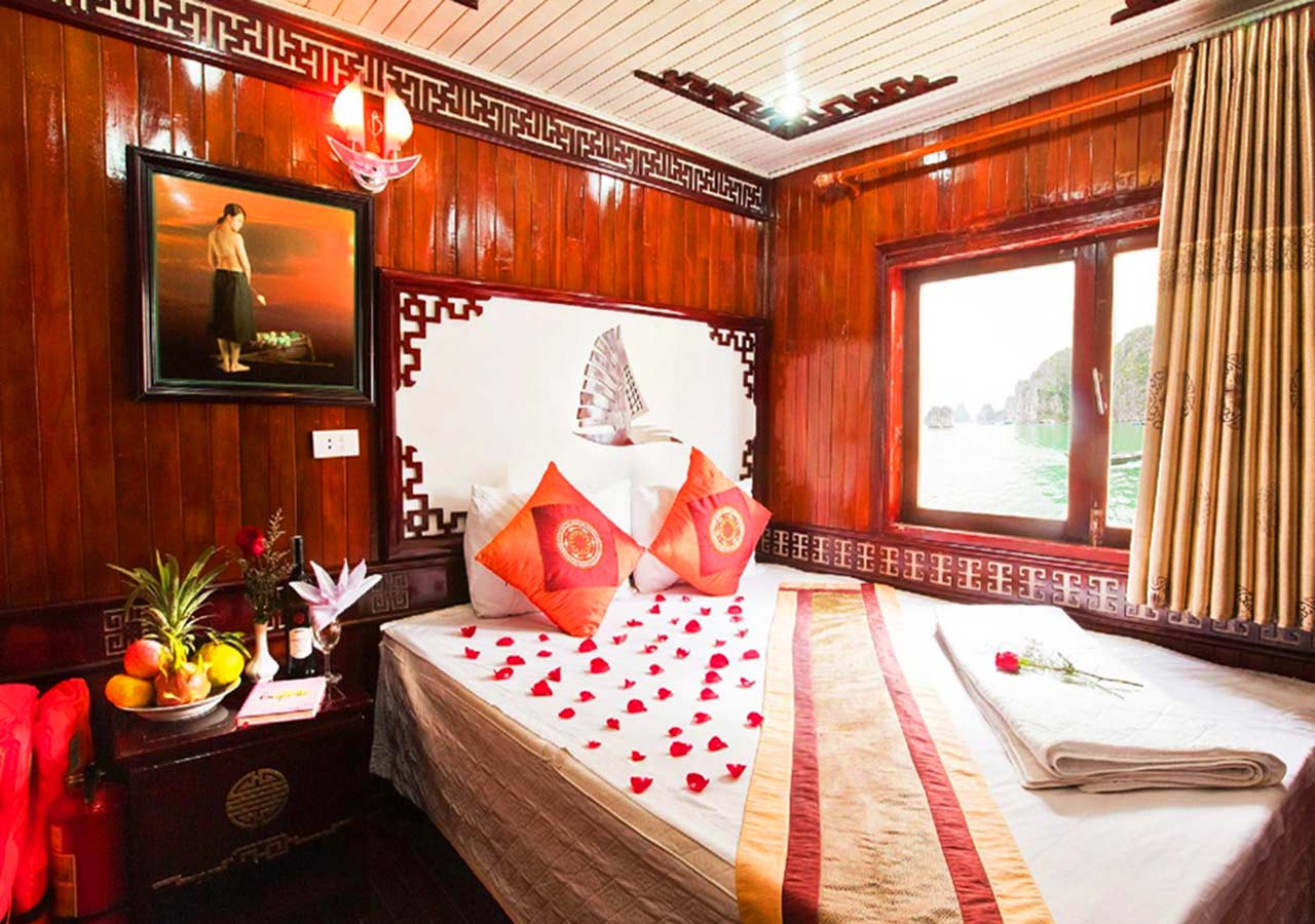 ハロン湾 Fantasea Cruiseの船の部屋