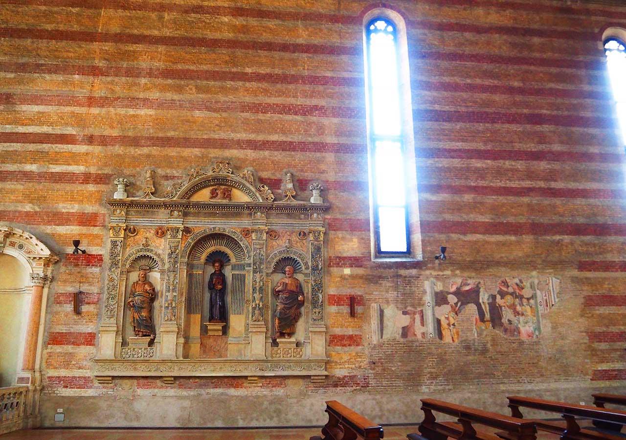 パドヴァ観光 エレミターニ教会(Chiesa degli Eremitani )内観