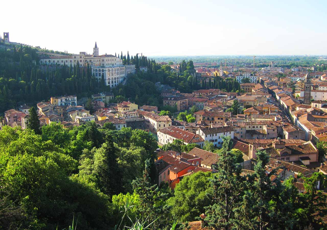 ヴェローナ観光 サンピエトロの丘からの展望