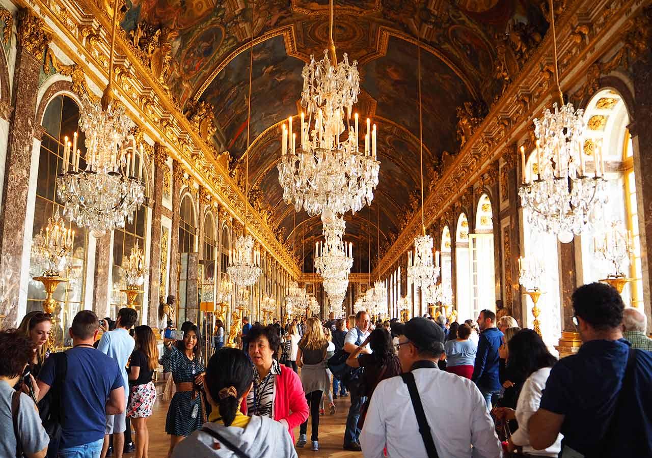 フランス観光 ベルサイユ宮殿  鏡の間