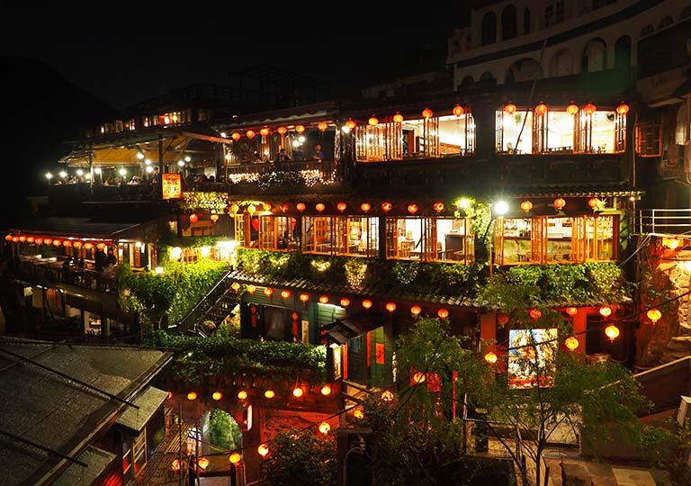 台湾 九份の夜景