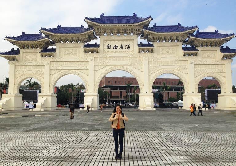 台北 自由廣場の門