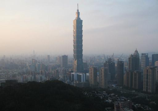 台北 象山自然道からの眺め
