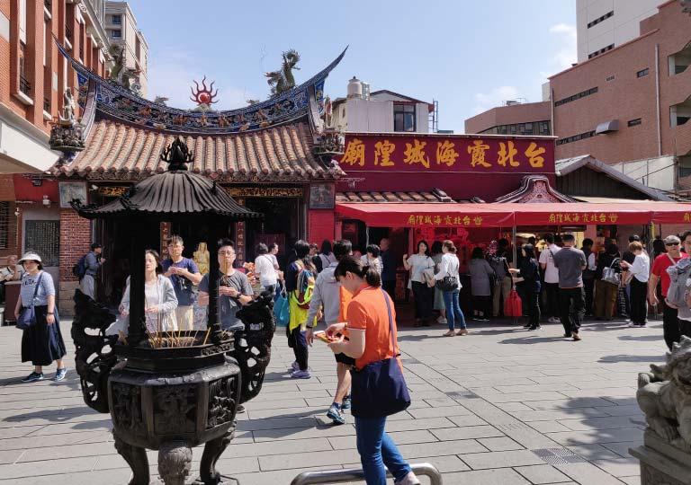 台北 迪化街の台北霞海城隍廟
