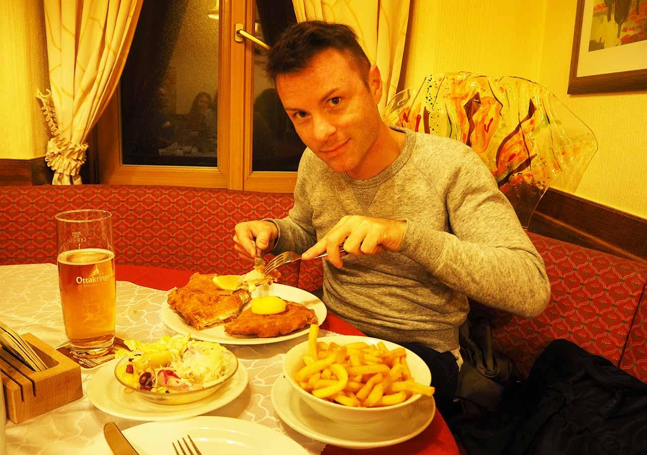 ウィーン観光 Schnitzelwirtの夕食