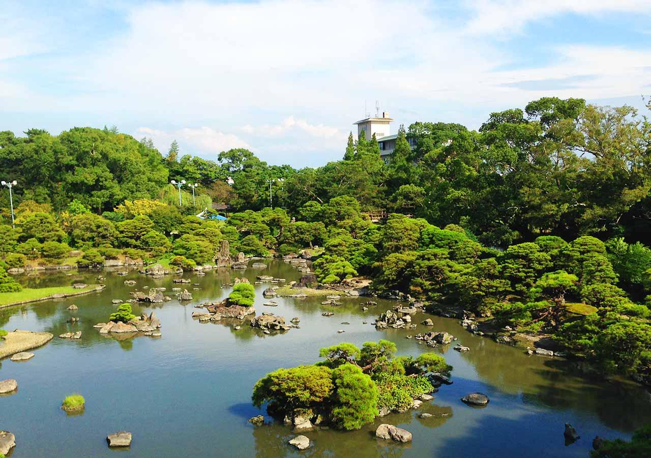 ゴールデンウィーク 福岡のデートスポット 御花の庭園