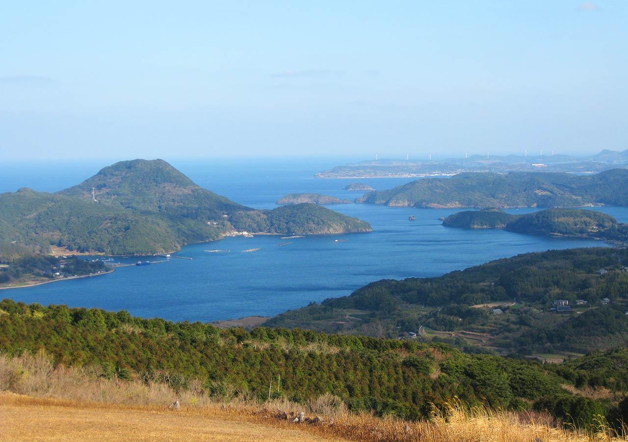 長崎 平戸 川内峠からの生月島