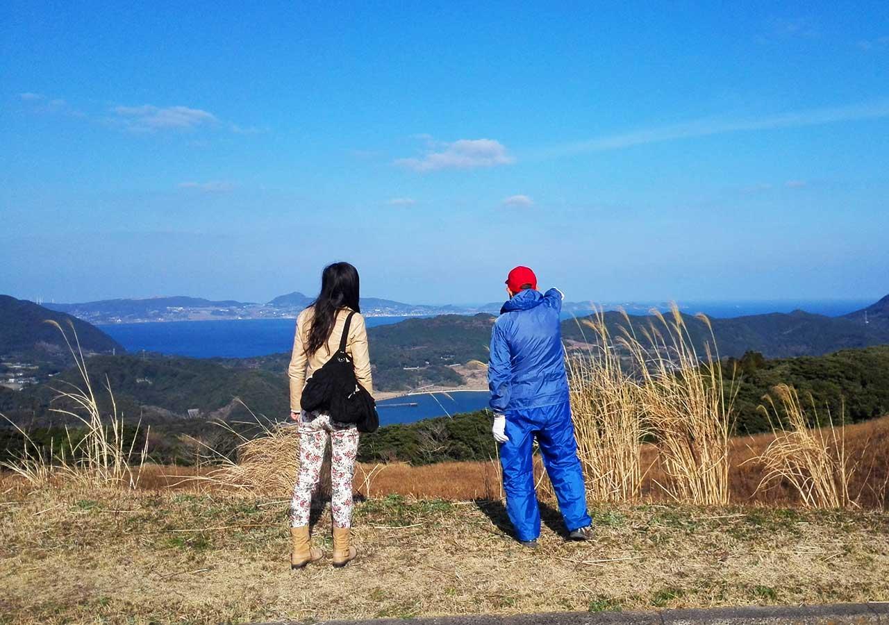 長崎 平戸 川内峠と地元のおじさん