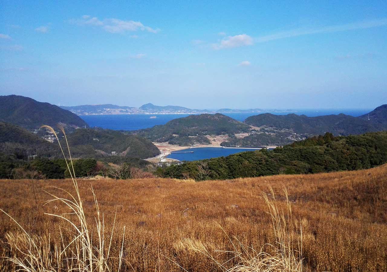 長崎 平戸 川内峠の丘に向かう途中