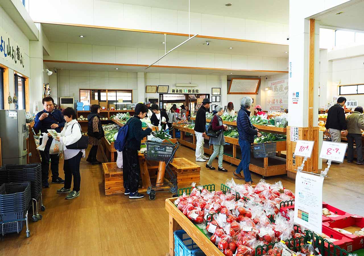 産直市場「福ふくの里」 野菜売り場