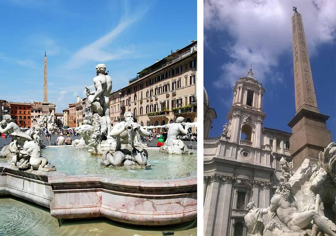 ローマ観光 ナヴォーナ広場(Piazza Navona)