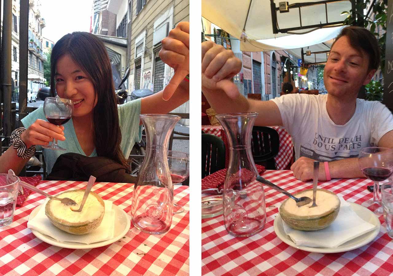 ローマ観光 トラステヴェレ(Trastevere)のレストラン