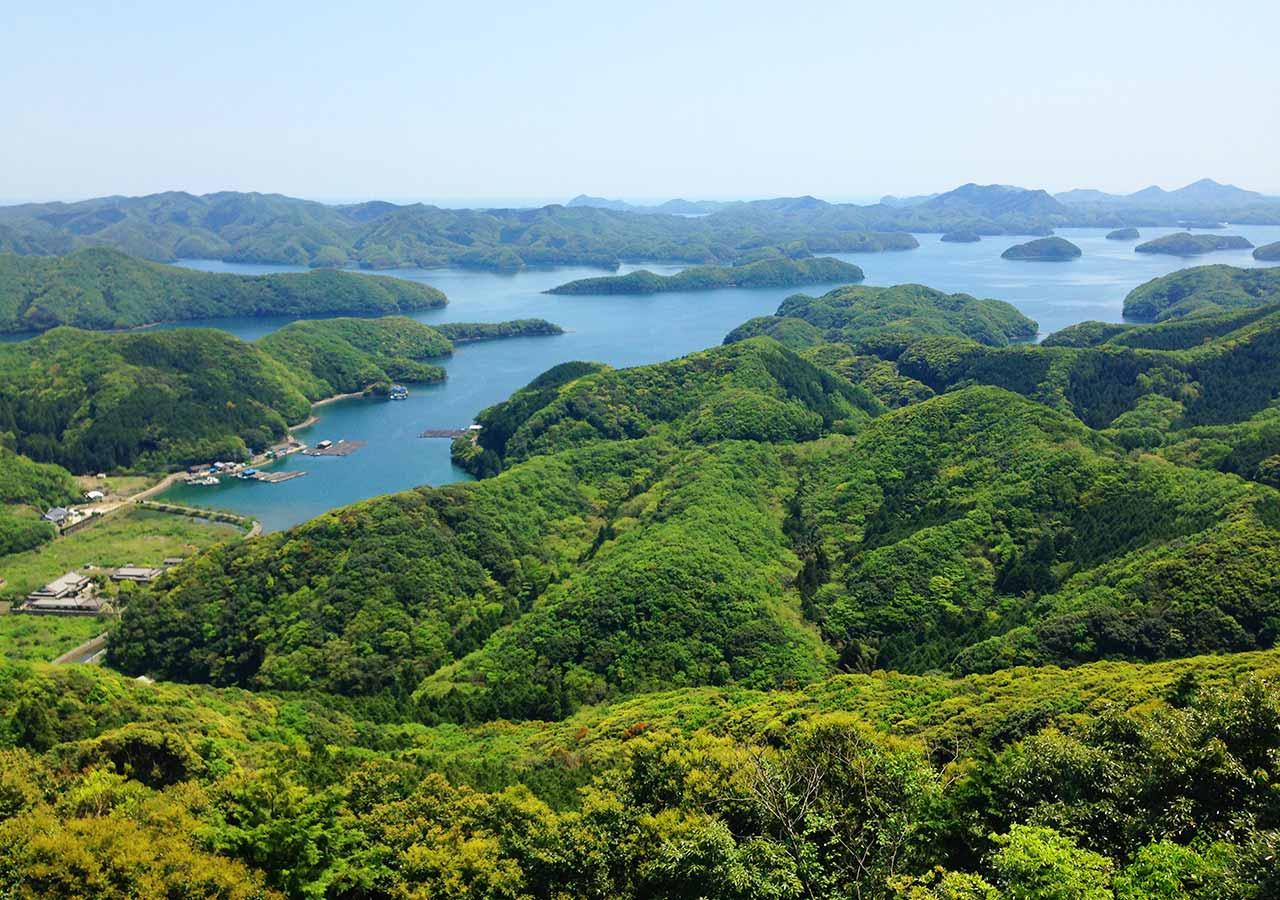 長崎県 対馬 烏帽子岳展望台