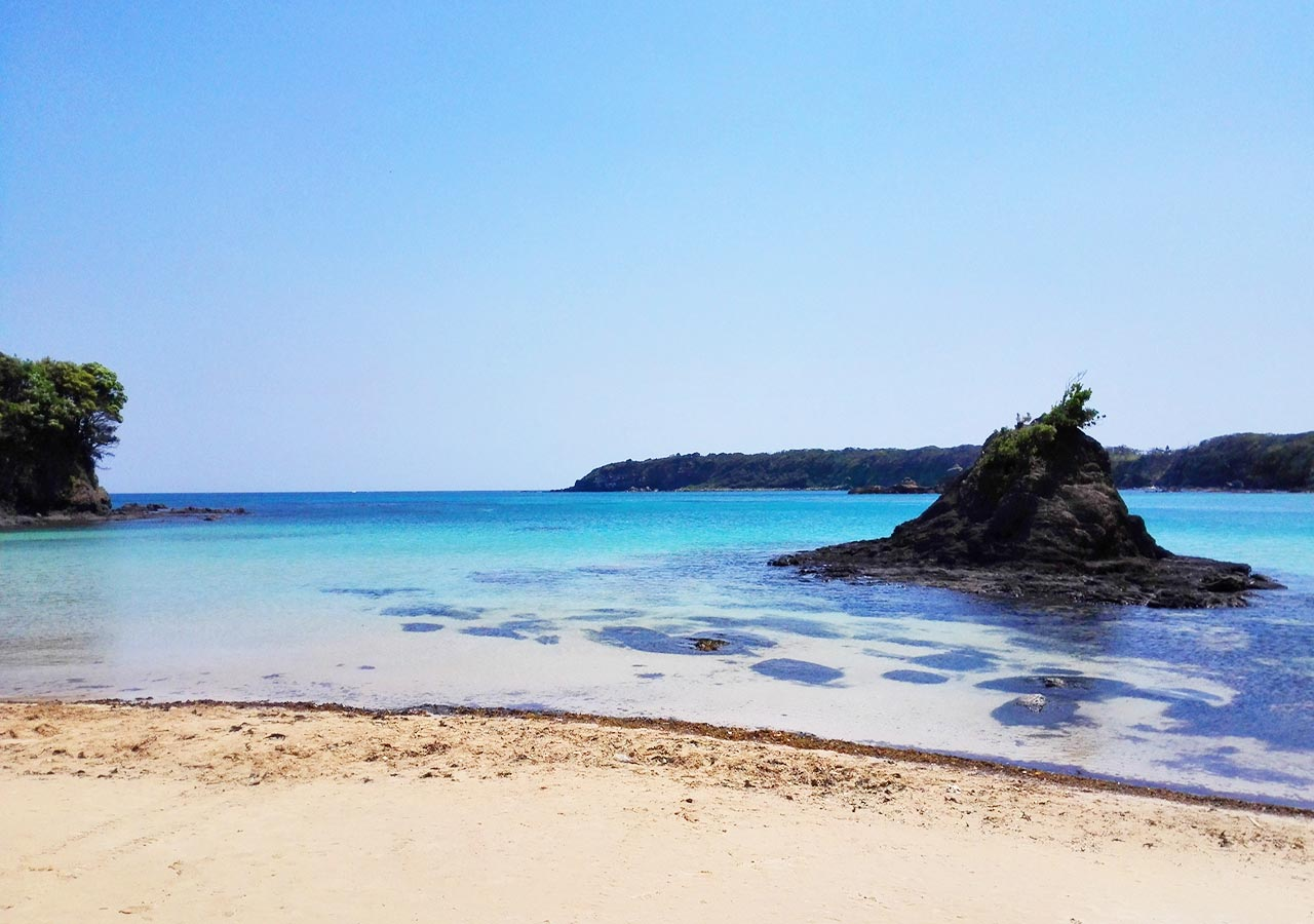 長崎県 対馬 三宇田海水浴場