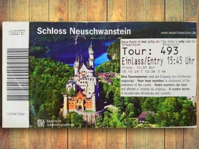 「ノイシュバンシュタイン城のチケット予約方法・料金の完全ガイド」 トップ画像