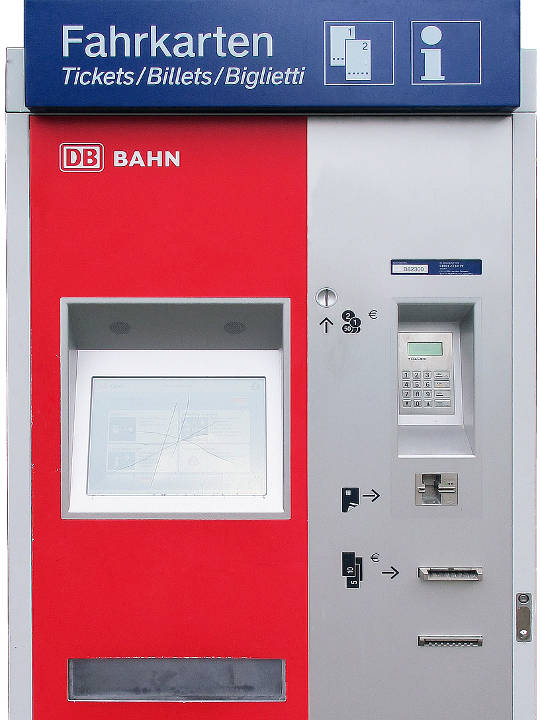 ミュンヘン観光 ミュンヘンの駅 自動券売機
