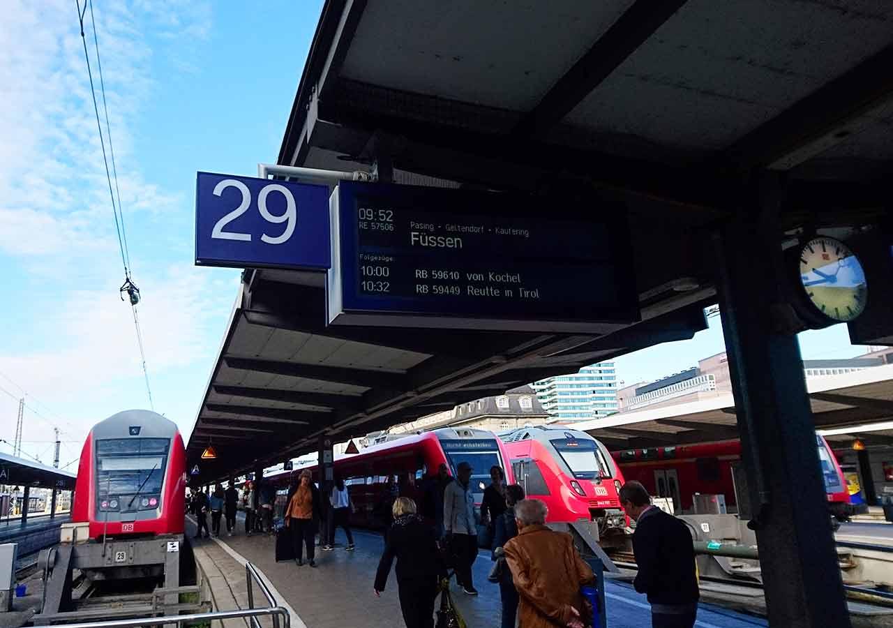 ドイツ観光 ノイシュバンシュタイン城の行き方 ドイツ鉄道