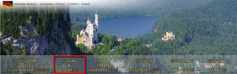 ドイツ観光 ノイシュバンシュタイン城 チケットのオンライン予約方法