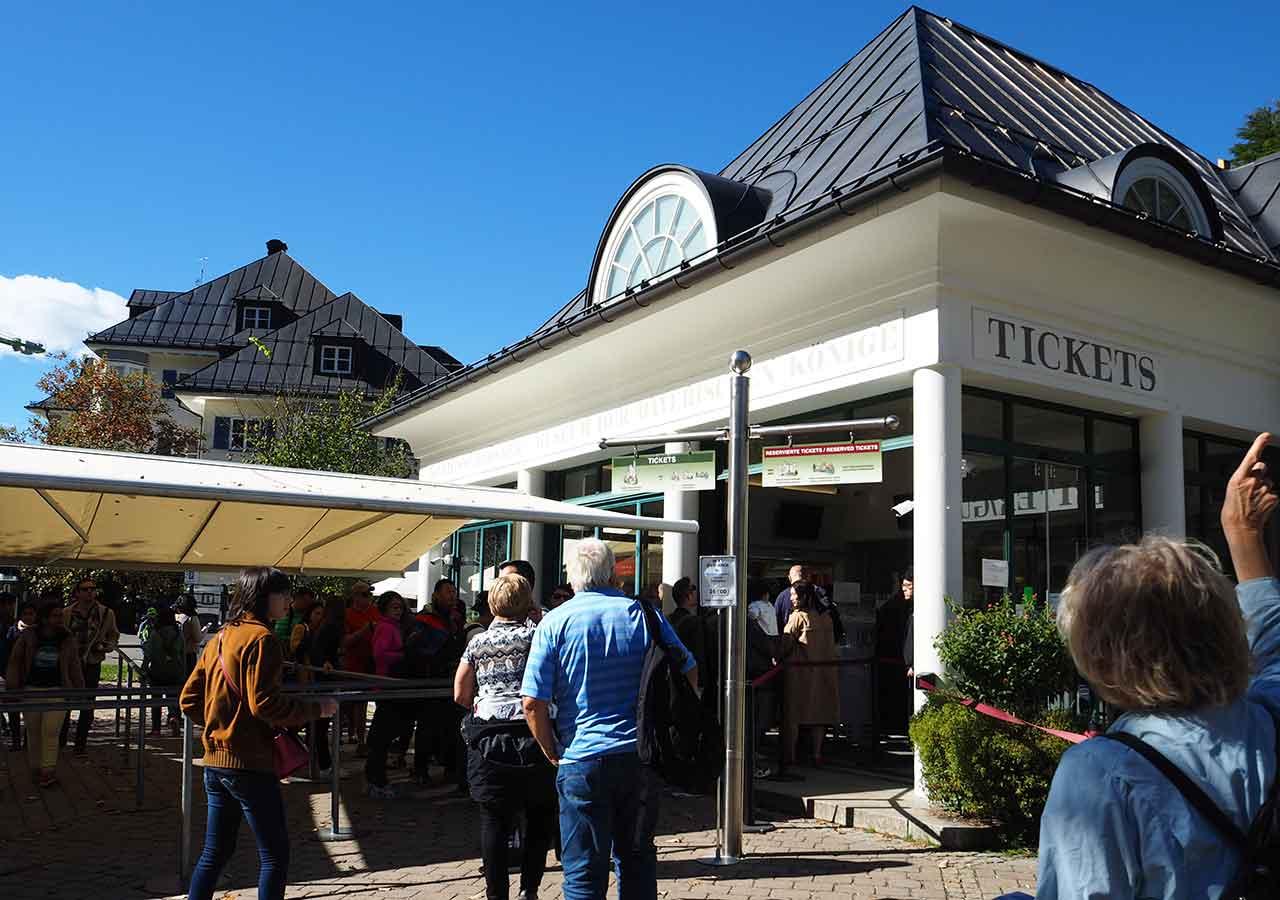 ドイツ観光 ノイシュバンシュタイン城のチケットセンター