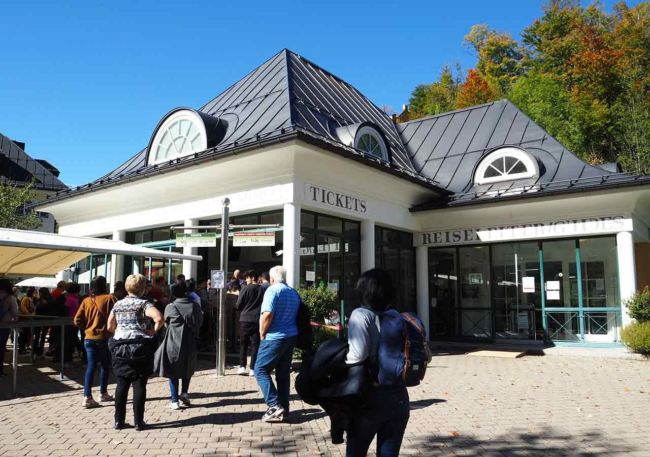 ドイツ観光 ノイシュバンシュタイン城の行き方 ホーエンシュヴァンガウのチケットセンター