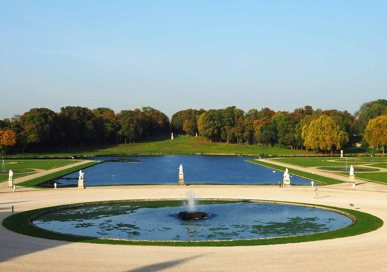 パリ観光 穴場スポット シャンティイ城(Château de Chantilly)の庭園