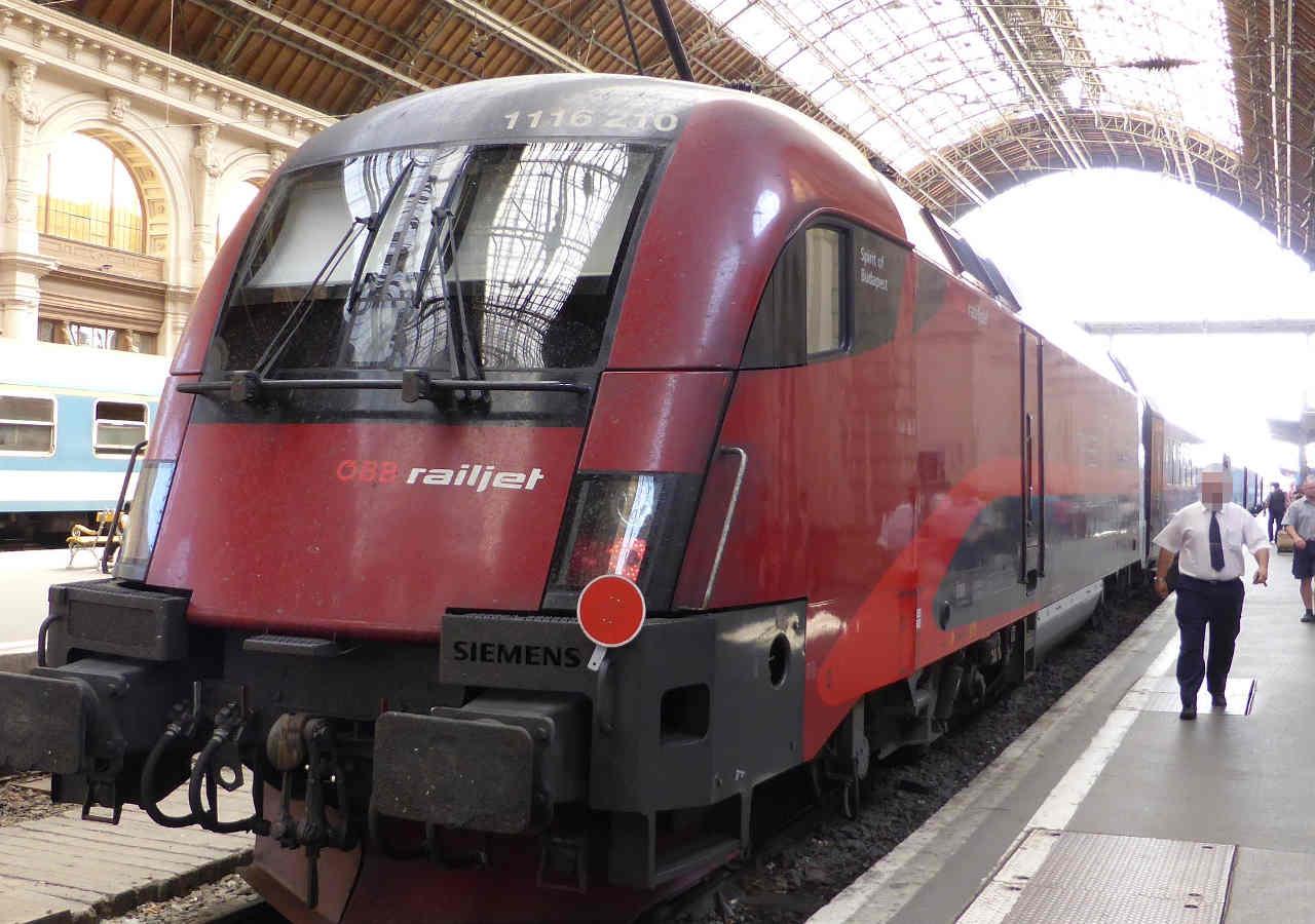 ウィーン観光 レイルジェット(Railjet)