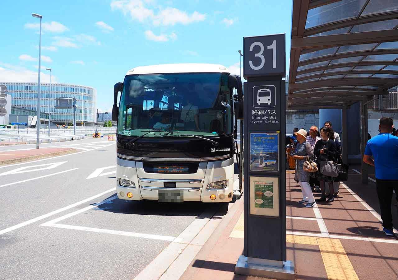 東京 成田空港第1ターミナルのTHEアクセス成田と東京シャトルの乗り場
