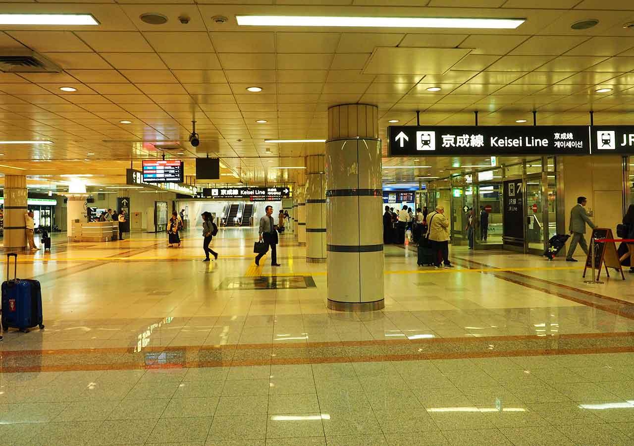 東京 成田空港鉄道駅 京成線案内標識