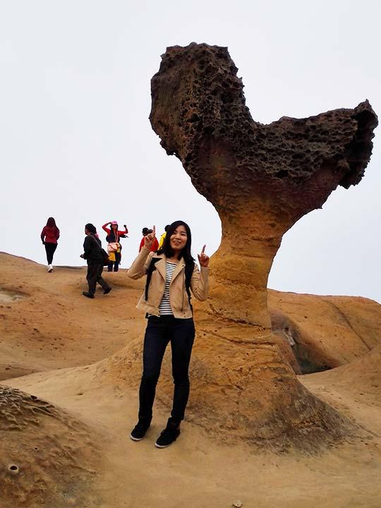 台北観光穴場スポット 野柳地質公園の奇岩