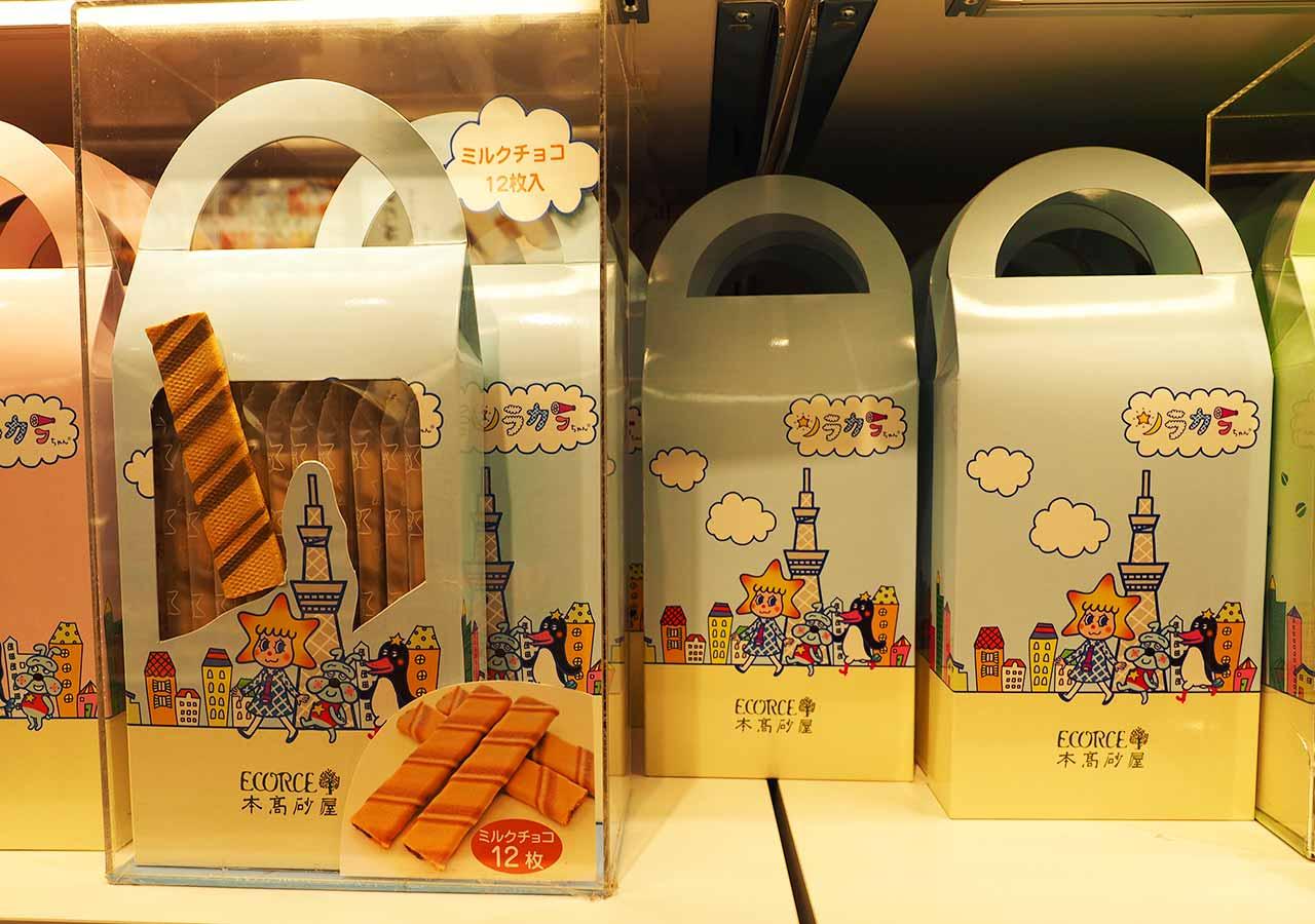 東京観光 東京ソラマチ1階 THE SKYTREE SHOP「ソラカラちゃんエコルセ」ミルクチョコ