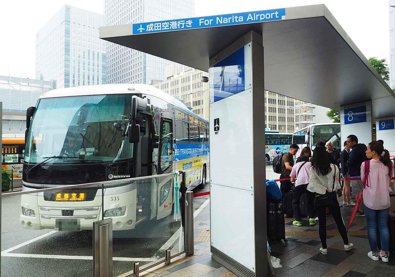 東京 東京駅のTHEアクセス成田シャトルバスの乗り場
